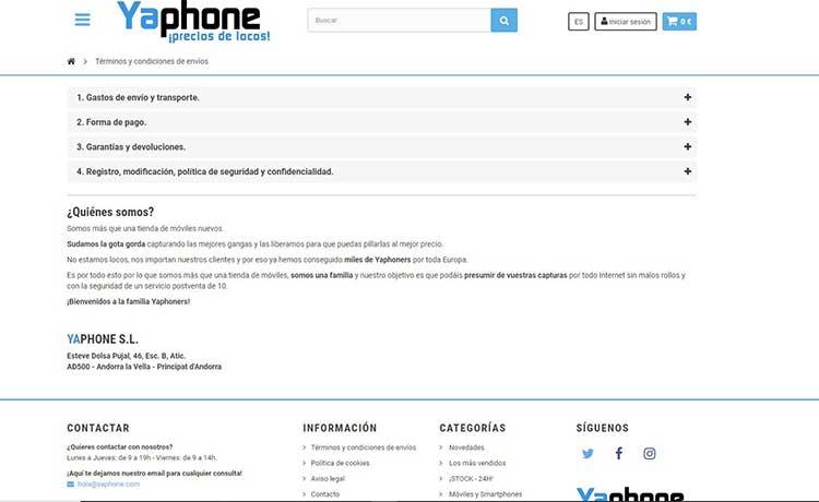 yaphone telefono